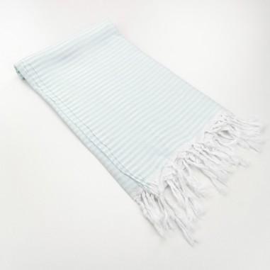 Turkish pareo towel fine stripes mint
