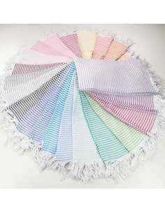 Turkish pareo towels fine colored stripes